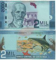 COSTA RICA   2'000  Colones   P275      Dated  2.9.2009     UNC - Costa Rica
