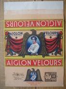 Emballage Chocolat AIGLON CHOCOLATERIE L'AIGLON VERVIERS-Tablette 350 Grs AIGLON VELOURS + Timbre SPIROU - ROBBEDOES - Chocolat