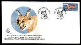 SOUTH WEST AFRICA 1986, FDC 52.1, Caracal Cat,   Nrs.587 - South West Africa (1923-1990)