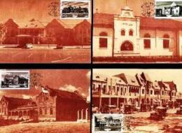 SWA, 1985, Mint Maxi Cards, MI Nr. 18-21, Buildings In Windhoek - South West Africa (1923-1990)