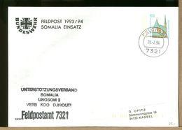DEUTSCHE - FELDPOST 1994 - BUNDESWEHR - SOMALIA EINSATZ - UNOSOM DJIBOUTI - Buste Private - Usati