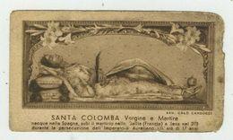Santa Colomba - Antico Santino Stampato A Bari - Devotion Images