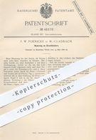 Original Patent - F. W. Poenicke , Mönchengladbach , 1888 , Bruchband , Bruchbänder   Pelotte , Arzt , Medizin !! - Historische Dokumente