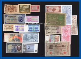EUROPE  20 BANKNOTES BILLETS  LOT 1  UNC. TO  POOR CONDITION - Coins & Banknotes