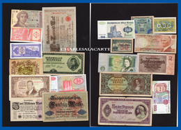 EUROPE  20 BANKNOTES BILLETS  LOT 2  UNC. TO  POOR CONDITION - Alla Rinfusa - Banconote