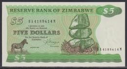 Zimbabwe 5 Dollars 1983 UNC - Zimbabwe