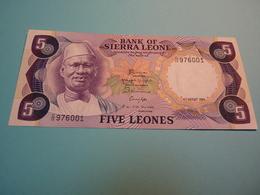 Billet Banque Sierra Leone - 5 Léones - - Sierra Leone