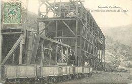Nouvelle Calédonie - Environs De Thio - Train Et Wagonnais Minier - Voyagée En 1905 - Très Bel Etat (voir 2 Scans) - Nouvelle Calédonie