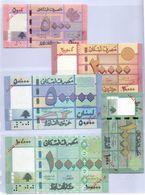 Lebanon Not Valid For Circulation (SPECIMEN) Lot 5 PCS 1000LL,5000LL,20,000LL,50.000,100,000LL UNC (Shipping EMS 35.55$ - Lebanon