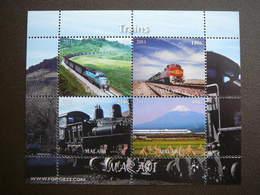 Trains. Züge. Vapeurs # 2011 MNH S/s # (1855) # Locomotives Transport - Trains