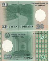 TAJIKISTAN   20  Diram   P12    Dated 1999   UNC - Tajikistan