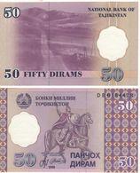 TAJIKISTAN   50  Diram   P13    Dated 1999   UNC - Tadschikistan