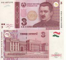 TAJIKISTAN   3  Somoni   P20     Dated  2010   UNC - Tajikistan
