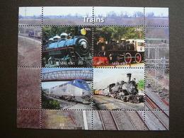 Trains. Züge. Vapeurs # 2011 MNH S/s # (1862) # Locomotives Transport - Trains