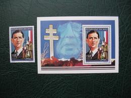Bloc Feuillet  République Du Mali    Charles De Gaulle   Neuf**  + Timbre  150F - De Gaulle (General)