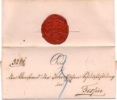 AD Mechlenburg- Schwerin (1864) Faltbrief- Hülle Von SCHWERIN, Taxiert 3 Schillinge , Siegel Des Oberkirchenrath - Mecklenburg-Schwerin