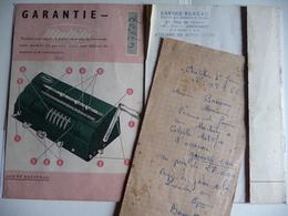 GARANTIE No 47827 D'une Machine à Calculer MULTIFIX Des Année 1950 Et Facture Du Matériel.. - France