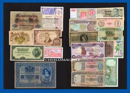 WORLD  MONDE  20 BANKNOTES BILLETS  LOT 1  UNC. TO  POOR CONDITION - Alla Rinfusa - Banconote