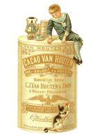 Reproduction Publicité Cacao Van Houten  - Chat - Enfant - Publicité