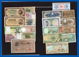WORLD  MONDE  20 BANKNOTES BILLETS  LOT 3  UNC. TO  POOR CONDITION - Coins & Banknotes