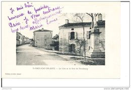 SAINT PAUL CAP DE JOUX LE CLOT ET LA RUE DE STRASBOURG CPA BON ETAT - Saint Paul Cap De Joux