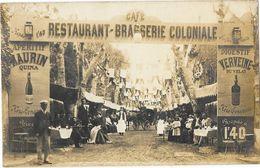 CAFE RESTAURANT BRASSERIE COLONIALE Carte Photo Entrée Belle Animation - A Identifier