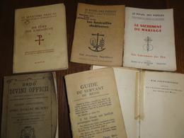Recueil De Rituel Ordo Divini Offici Confirmation Mariage Funeraille 1915 - Oude Boeken