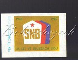 7-31 CZECHOSLOVAKIA 1979 Big 54x76mm  Regular Police Force 35 Years SNB  Department Of The National Security Corps - Luciferdozen - Etiketten