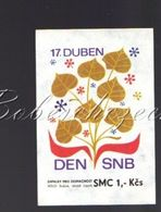 7-32 CZECHOSLOVAKIA 1979 Big 54x76mm  Regular Police Force April 17 Day SNB  Department Of The National Security Corps - Luciferdozen - Etiketten