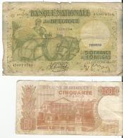 Billets De 50 Francs - [ 2] 1831-... : Belgian Kingdom