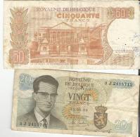 Billets De 20 & 50 Francs - [ 2] 1831-... : Belgian Kingdom