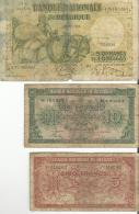 Billets De 5,10  & 50 Francs - [ 2] 1831-... : Belgian Kingdom