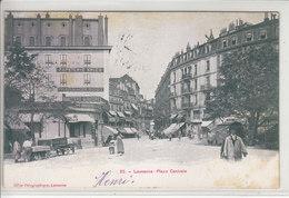 LAUSANNE - PLACE CENTRALE - CHARIOTS DIVERS ET MULTI ANIMATION - DOS UNIQUE - 13.09.05 - ( Tachée  ) - VD Vaud