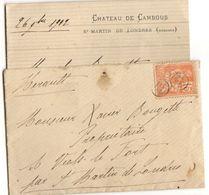 1902 St MARTIN De LONDRES - HERAULT Obliteration OR Origine Rurale Sur Timbre - Marcofilie (Brieven)