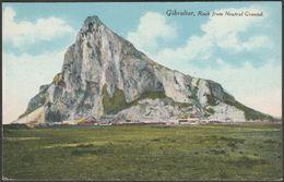 Rock From Neutral Ground, Gibraltar, C.1905 - Millar & Lang Postcard - Gibraltar