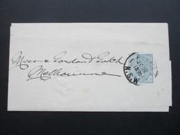 Australien 1895 New South Wales / NSW Streifband Nach Melbourne - Briefe U. Dokumente