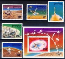 Haute-Volta (Burkina Faso) 1976 - Viking Probe - 5 Val. + Sheet (1 Images) - Gum MNH** Cancelled Light - Space