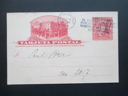 Chile 1912 GA Einladung: Deutscher Wissenschaftlicher Verein Vortrag Alexander Weber. Elektrisches Licht U. Energie - Chile