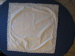 110 - Taie D'oreiller 76 X 76 En Coton  Monogrammée MB - Bed Sheets