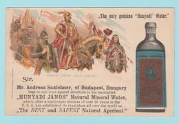 EU6. Hongrie Entier Postal Repiqué + Timbre Perforé SAHJ Natural Minéral Water / Eau Minérale. Pour Les USA - Ungheria