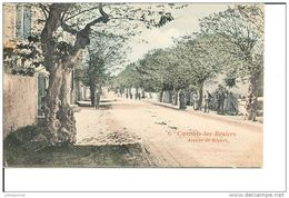 CAZOULS LES BEZIERS AVENUE DE BEZIERS CPA COULEUR 1905 BON ETAT - France