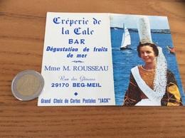 "Calendrier 1975 ""Crêperie De La Cale M. ROUSSEAU BEG-MEIL (29) (bigoudene, Coiffe Bretonne, Bateau)"" - Calendriers"