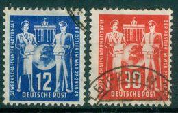 DDR 1949 / MiNr.  243 - 244   O / Used   (q382) - [6] Democratic Republic