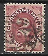 ETATS - UNIS   -   TAXE   -  1891 .   Y&T N° 16 Oblitéré . - Postage Due