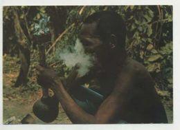 ANGOLA, Ethnic, Man Smoke Pipe  (2 Scans ) - Angola