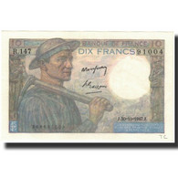 France, 10 Francs, 1947-10-30, KM:99f, SUP, Fayette:8.18 - 1871-1952 Circulated During XXth