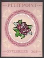Austria 2010 / Miniature Sheet - Petit Point / Rose - 1945-.... 2ème République