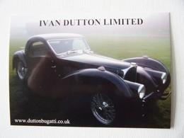 "Carte Photo Automobile Publicitaire Bugatti Type 57 ""Ivan Button Limited"" - Turismo"