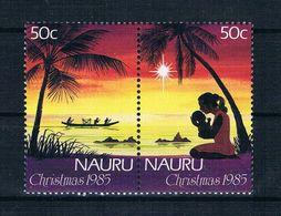 Nauru 1985 Weihnachten Mi.Nr. 310/11 Kpl. Satz ** - Nauru