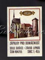 7-83 CZECHOSLOVAKIA 1972 BIG 76x54mm Burg Castle STERNBERK Sternberg - Matchbox Labels